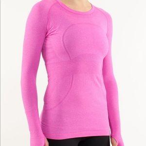 🍋Lululemon Pink Long Sleeved Swiftly NWOT Size 10